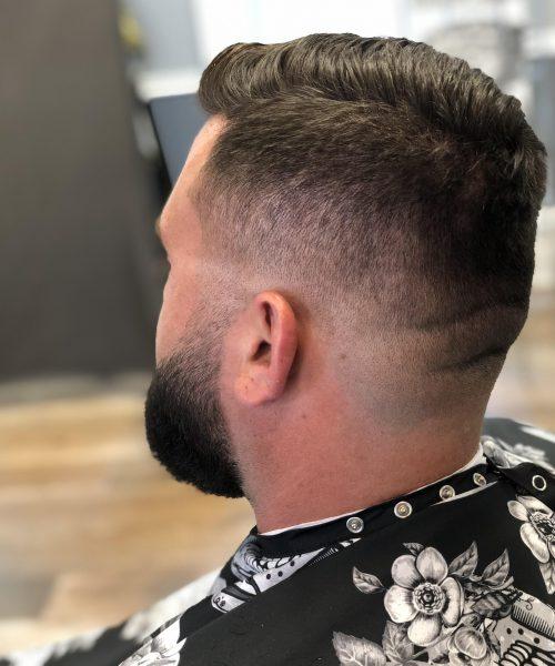 Left rear view of haircut - Mr. Golden Scissors
