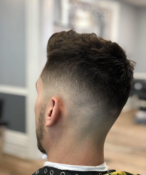 Left rear view of hair cut - Mr. Golden Scissors