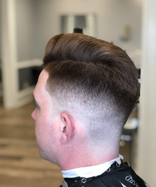 fade haircut left side view - Mr. Golden Scissors